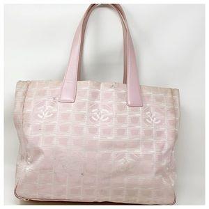 Authentic Chanel Canvas Shoulder Bag